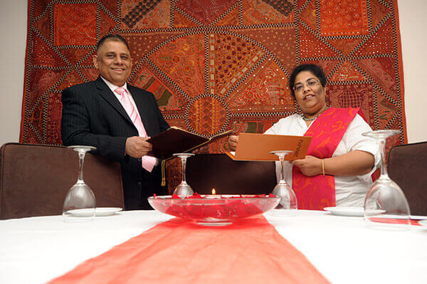 Almara and Sadique Miah, the owners of Zari Indian Resturant in Crawley