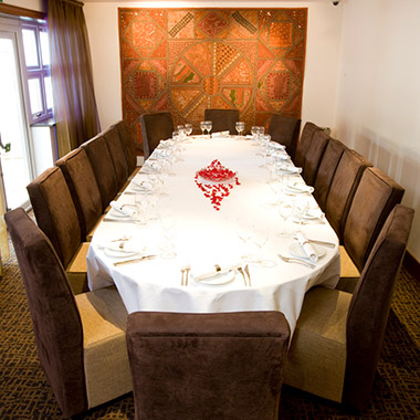 Private Dining Area at Zari