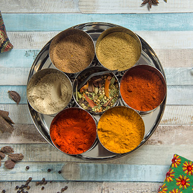 A selection of Indian spices